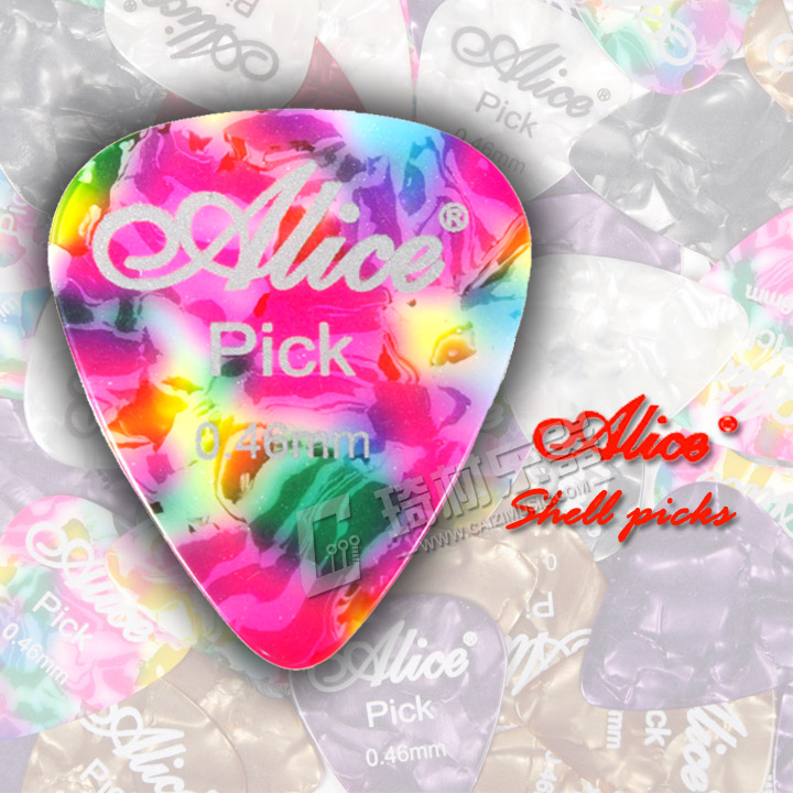 Alice Celluloid Guitar Pick Plectrum Mediator Gauge 0.46mm/0.71mm/0.81mm/0.96mm/1.2mm/1.5mm