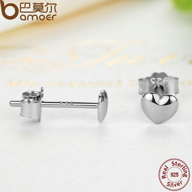 925 Sterling Silver  Hearts Stud Earrings for Women 3