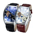 Sewor hombres relojes 2016 nuevo reloj tonneau tourbillon reloj automático reloj mecánico relogio masculino erkek saat