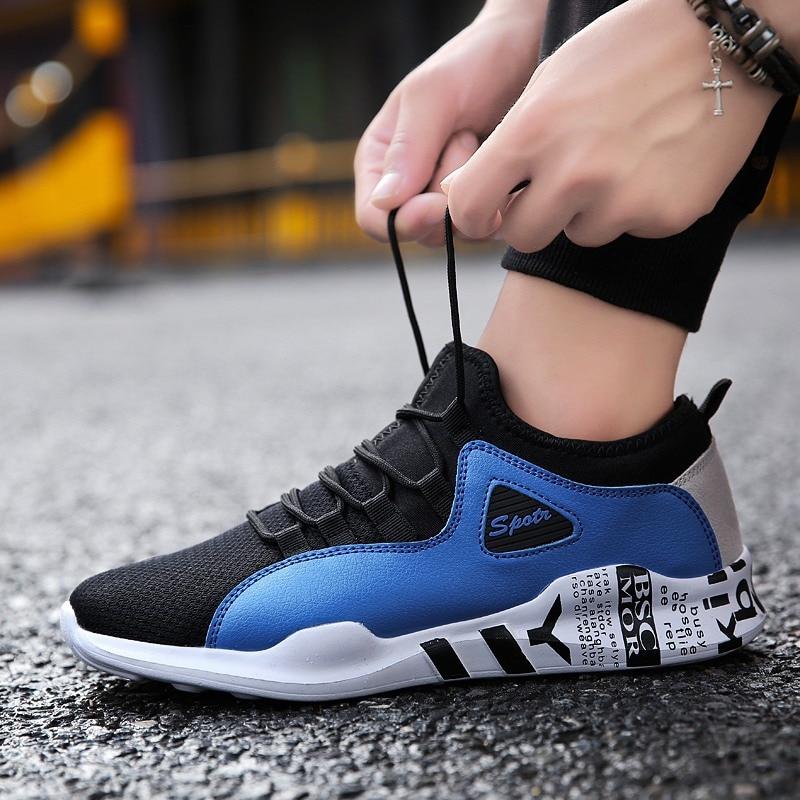 Desgaste Casuales 2019 Negro azul black Resistente De Versión Nuevos Coreana Al Deportivos Tendencia Hombres Transpirable White And Los blanco Zapatos nvrPn