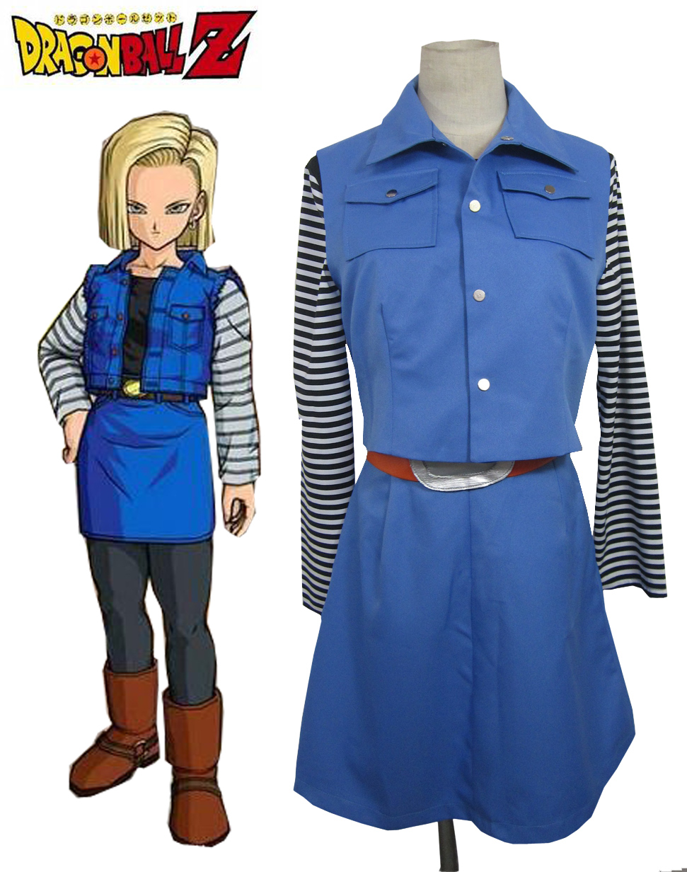 Dragonball Z Android No 18 Femmes Costume de Cosplay