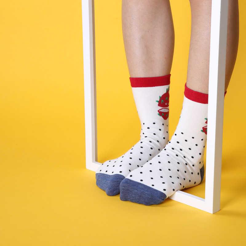 Женские короткие носки для здоровья, фруктов, арбуза, питая, манго, авокадо, сосна, яблоко помидор, киви, в полоску, Прямая поставка