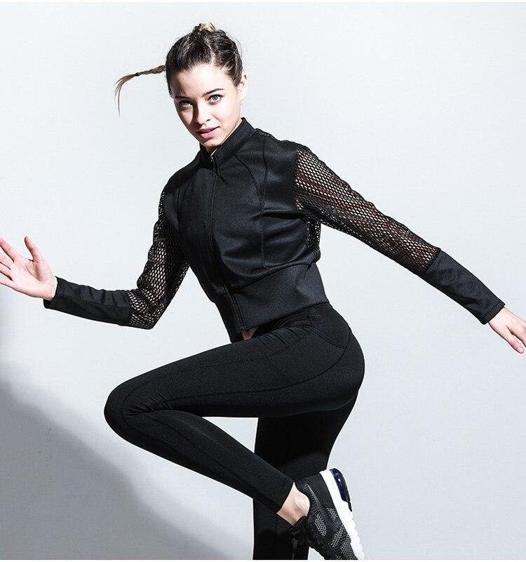Laufwesten Sport & Unterhaltung Obligatorisch Frauen Gym Mesh Langarm Mit Kapuze T-shirt Fitness Yoga Crop Top Sportswear Sport Trikots Hoodie Lauf Jacke Sport