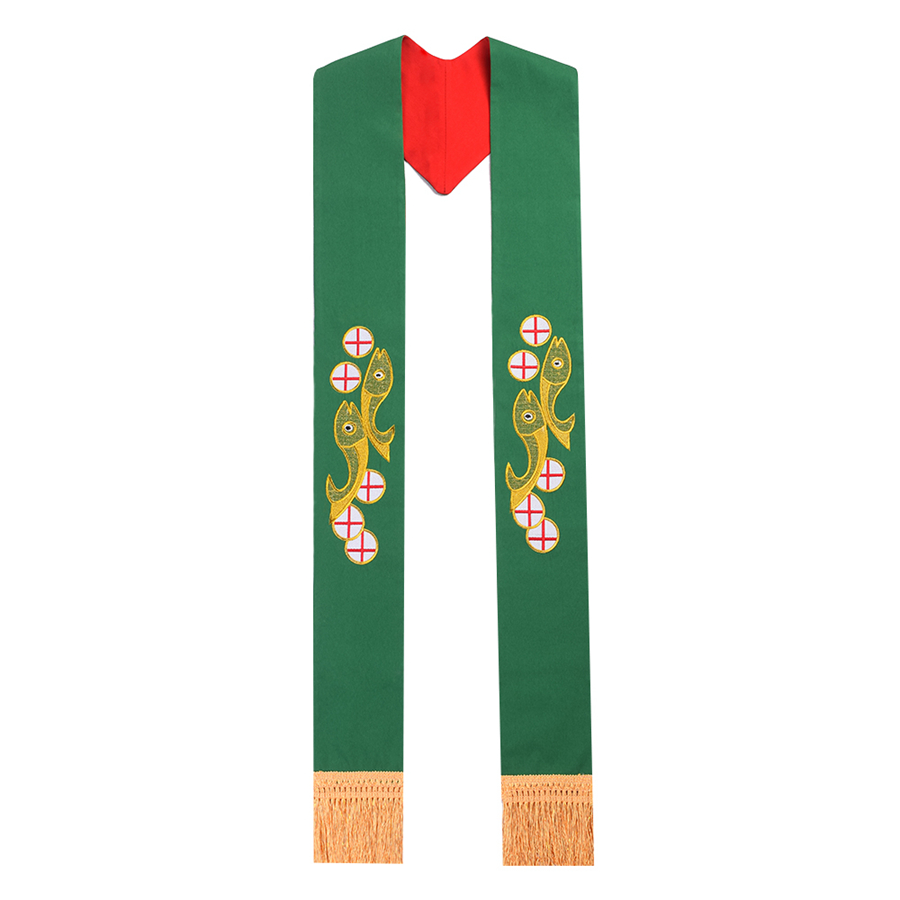 Holy Reversible Stole Clergy Priest Embroidered Stole with Tassel for Chasuble/Vestments clergy omnibus
