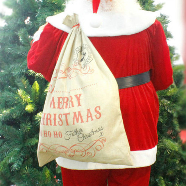 christmas santa claus gift bags sack stocking bag personalised xmas