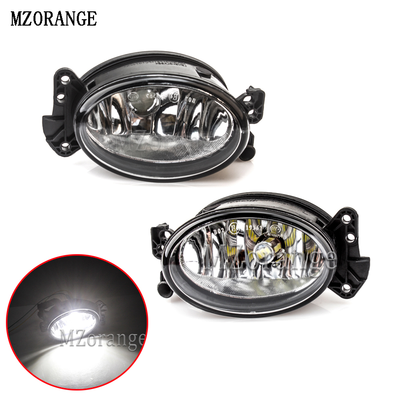 MZORANGE Front Fog Light A1698201556 1698201656 For <font><b>Mercedes</b></font> Benz W204 C230 <font><b>C300</b></font> C350 W211 E320 E350 W164 Fog Lamp LED Bulb image
