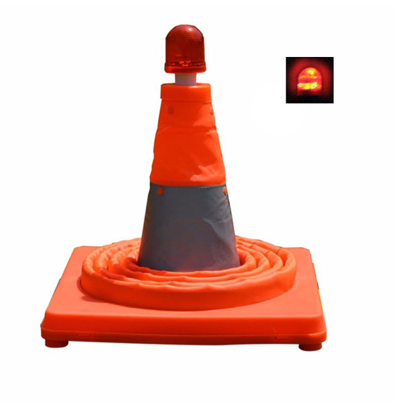 Reflective Traffic Cone Parking Lock Folding Collapsible Orange Road Safety Cone Traffic Pop Up Multi Purpose New Arrival
