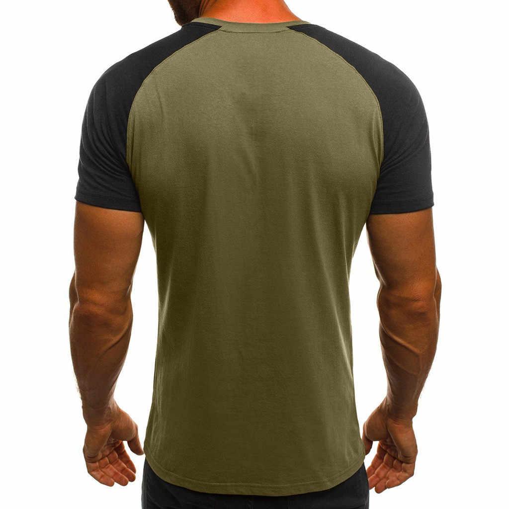 여름 T 셔츠 남성 하라주쿠 패션 남성 캐주얼 슬림 위장 프린트 반소매 T 셔츠 탑 블라우스 camisetas hombre