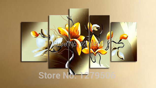 Handmade Abstract Gardenia Flowers Picture Oil Painting On Canvas ...