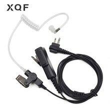 XQF 2 웨이 라디오 PTT 에어 튜브 이어폰 헤드셋 마이크 모토로라 휴대용 라디오 EP450 CP040 CP180 CP200 워키 토키 트랜시버