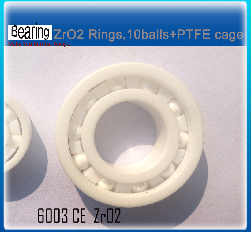 ZRO2 full Ceramic bearing 6003 17x35x10mm ceramic bike repair bearing 1 piece
