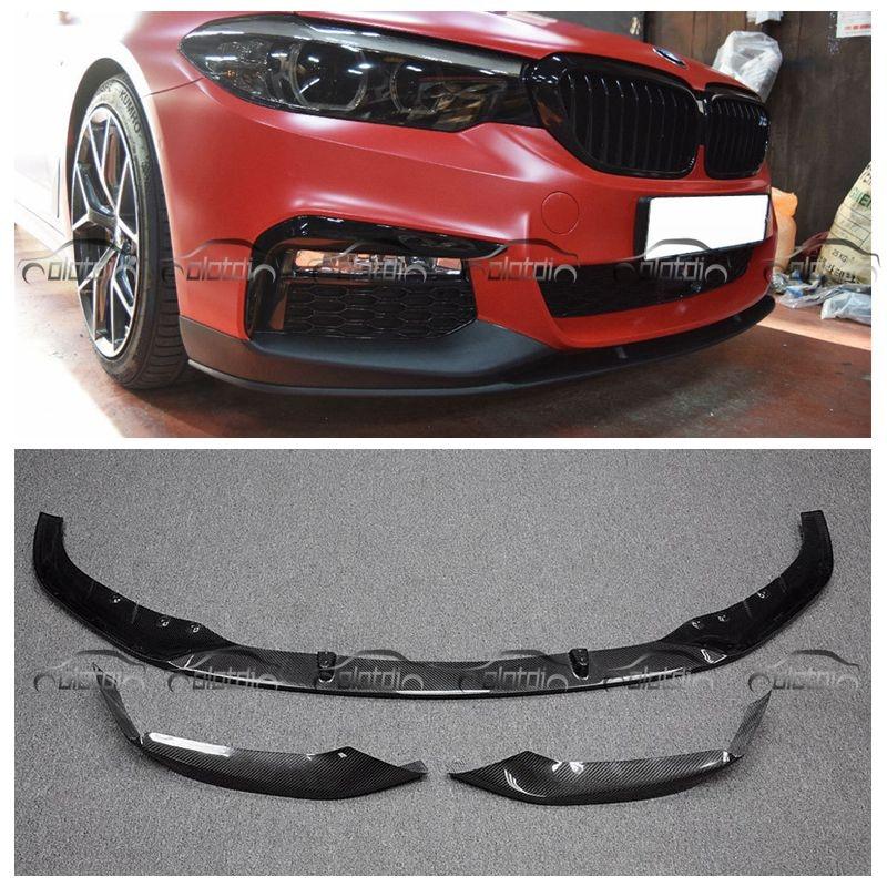 OLOTDI G30 Car Styling Carbon Fiber / ABS MP Style Front Bumper Lip Protector For BMW G30 carbon fiber nism style hood lip bonnet lip attachement valance accessories parts for nissan skyline r32 gtr gts
