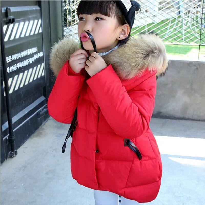 Winter Jacket For Girls 2017 Fashion Hooded Thick Warm Girls Winter Coat For Girls Children's Winter Jackets l6-12yer covrlge 2017 male jacket brand fashion parka jackets winter coat for men thick warm mens hooded parkas plus size overcoat mwm010