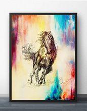 Карандаш лошадь постер абстрактный Рисунок Феи стены искусства