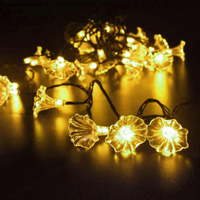 Iguardor 4.8M 20 LEDs Solar Powered Morning Glory String Light Party Decor Yard Garden Path Lamp