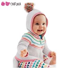New Style Baby Girls Sweater Cardigan 2016 Spring Autumn Clothing Knitted Hooded Jacket Fashion Sweater Coat Little Girls Cloth