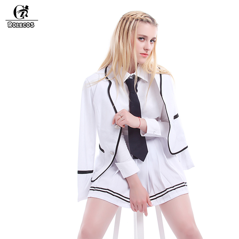 ROLECOS Senior High School Students Clothes School Uniforms Chorus Clothing Girls Tracksuits Suits Coat+Shirt+Skirt+Tie