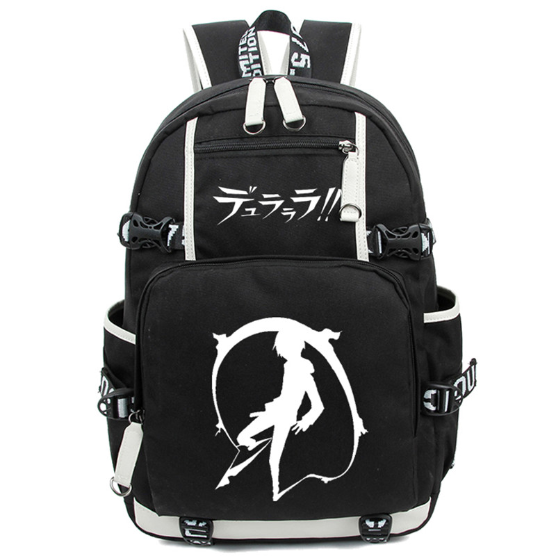 Anime Durarara Students Laptop Backpack Nylon Travel Large Capacity Bagpack Mochilas Masculina School Bags bestlife large capacity light weight bags nylon bagpack urban travel backpack 15 6 laptop bag school bags for teenagers