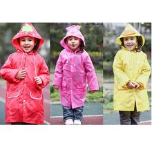 Cartoon Boys Girls Hooded Raincoat Rainy Day Baby Outdoor Waterproof Coat Cute Animal Pattern Rainwear Clothes Rain Suit