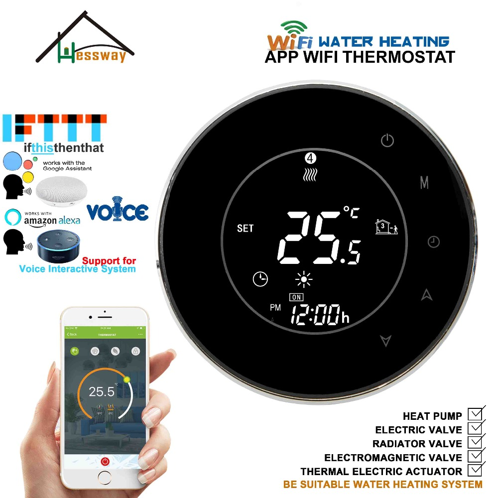 95 240VAC voice interac smart WIFI THERMOSTAT google Assistant Amazon Alexa IFTTT for water floor heating