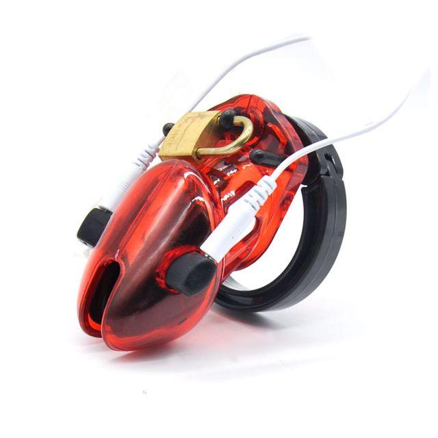 2016 Electro Electro Shock Стимуляции Мужской Целомудрие Кейдж Cock Cage Секс Игрушки для Мужчины Целомудрие Устройства CB6000