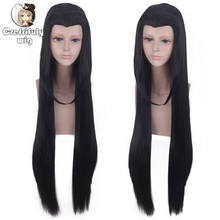 Anime Beauty tip Straight Long black Cosplay Costume Wig Synthetic Hair Party Wigs + Wig Cap anime naruto shippuden hinata hyuga cos hair wig blue black mixed color 100cm long straight cosplay costume wigs free shipping