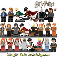 1PC Harry Potter Building Blocks Dumbledore Hermione Ron Death Eater Lord Voldemort Draco Malfoy diy figures Bricks Kids Toys(China (Mainland))