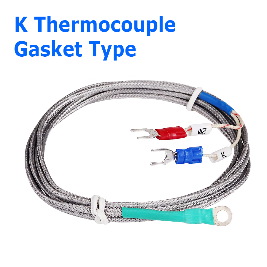 6mm Hole Washer K Type Thermocouple Temperature Sensor Probe Controller 1M Cable