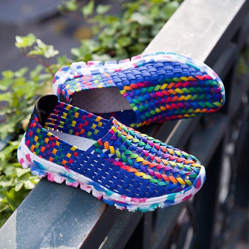 2017 NEW HOT new Summer Women Shoes Light Soft Breathable Handmade Women Woven Shoes Comfortable Women