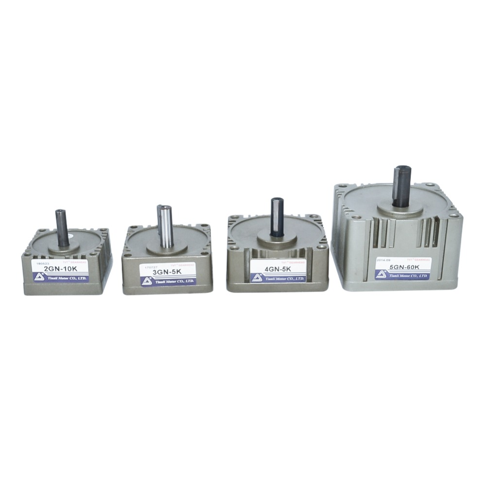 Motor Gearbox 2GN 3GN 4GN 5GN Reducer 8/10/12mm Output Shaft 3K 180K Explosion Proof Gear Head Box For AC Induction Motor