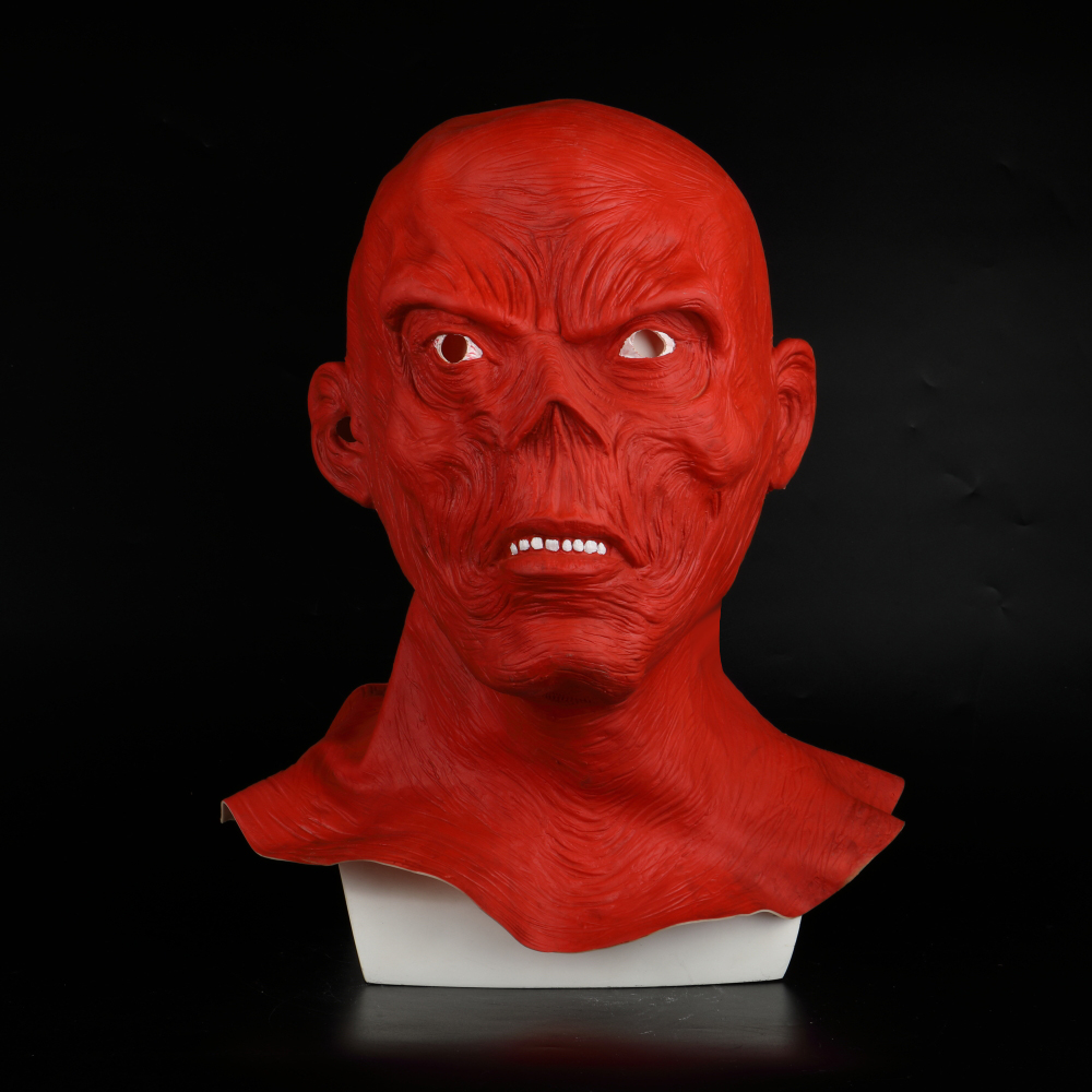 Star Wars Horror Full Head Masquerade Red Skull Hood Latex Mask Halloween Cosplay Zombie Mask New (3)