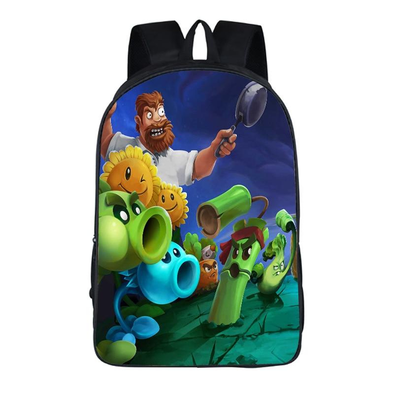 Plants vs Zombies Printing Backpack Students School Bags For Teenage Boy Bag School Backpacks Gifts