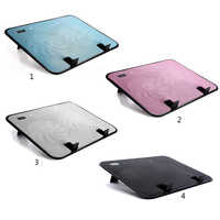 Notebook Cooler 5v USB External Laptop Cooling Pad Slim Stand High Speed Silent Fan Metal Panel 4 Colors 14 inch Cooling Pads