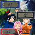 Athemis Naruto Narutpo  Ninja Headbands for Uzumaki Naruto Haruno Sakura Uchiha Sasuke Three Color Black Red Blue