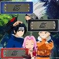 Athemis Narutpo Headbands Ninja para Uzumaki Naruto Uchiha Sasuke Naruto Haruno Sakura Três Cores Preto Vermelho Azul