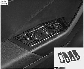 Aço inoxidável 4 pçs/lote moldura decorativa janela de vidro painel Do Carro de elevação-Estilo Para VW Volkswagen T-Roc 2017 2018 Acessórios