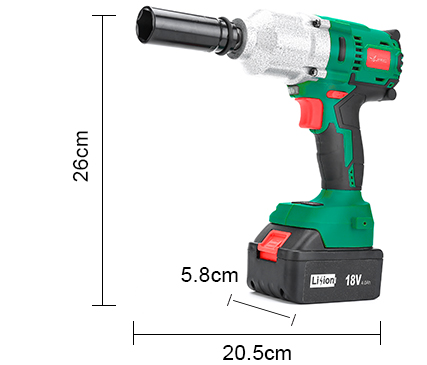 LANNERET 18V Brushless Cordless Impact Electric Wrench 300-600N m Torque 2