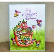 2019 Flower Fairy Transparent Clear Silicone Stamp/Seals for DIY Scrapbooking/Photo Album Craft Valentine Decorative Stamp