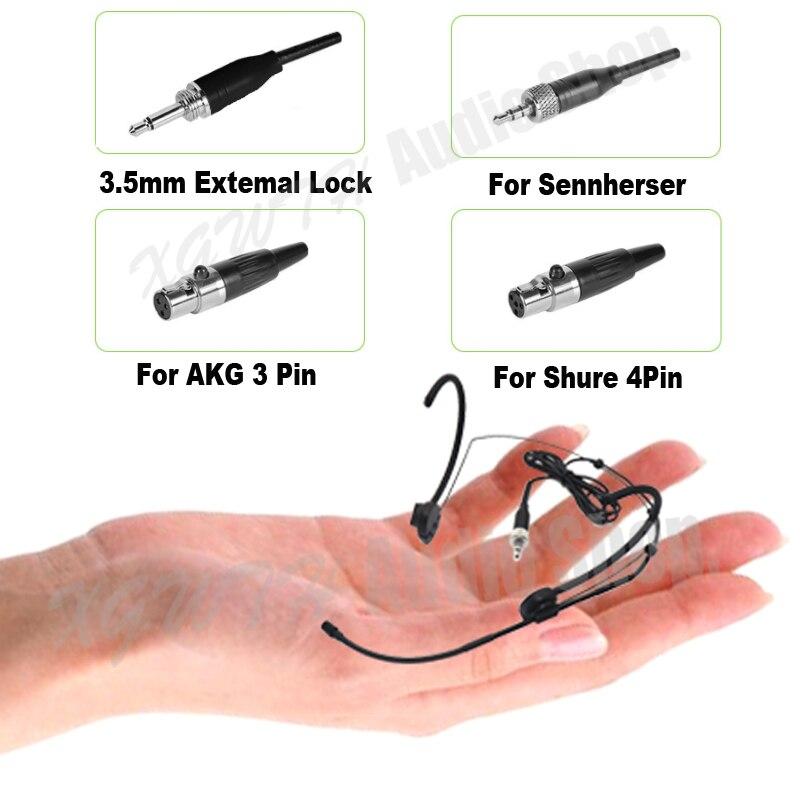Mini serre-tête à condensateur micro porté pour Sennheiser Microphone Shure micro sans fil casque système émetteur Body-Pack