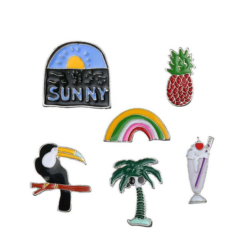 Hoomall Cartoon Metal Badges Icons On Backpack Men Women Fashion Brooch Decorative Brooches Safety Pins For Clothes Badges 2017