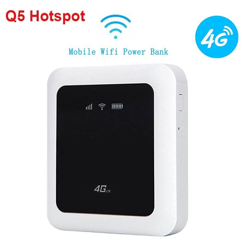Q5 4G routeur Portable Hotspot MiFi 4G laisser sans fil Wifi routeur de téléphone Mobile FDD 150 M MDM9600 carte SIM Wifi dispositif pour Smartphone