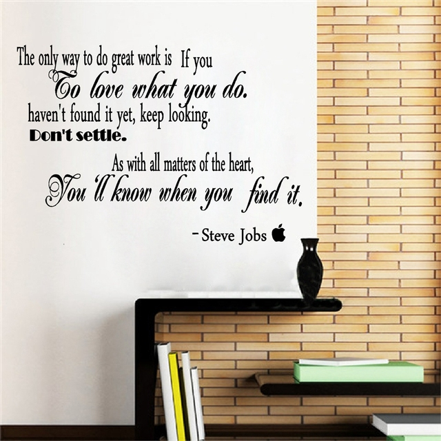 Famous Quotes By Steve Jobs Vinyl Wall Sticker Removable Inspirational Wall  Decals For Office/Study