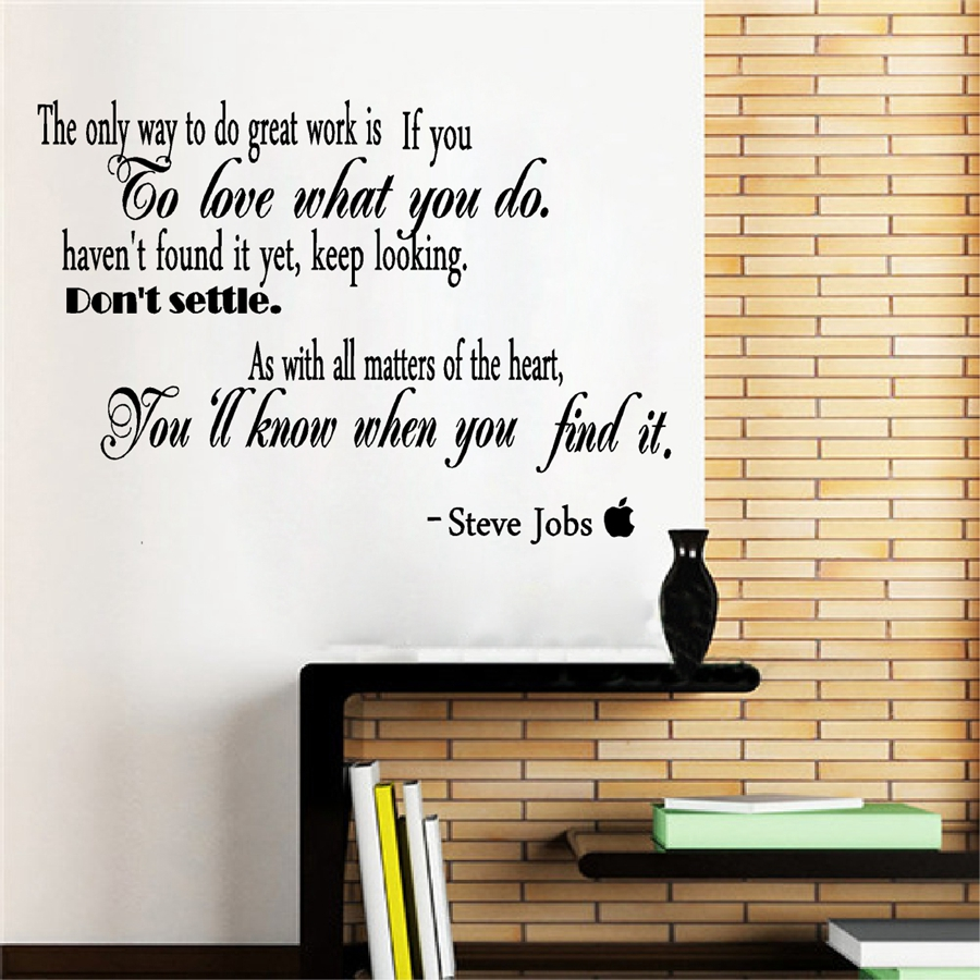 Famous Quotes By Steve Jobs Vinyl Wall Sticker Removable Inspirational Decals For Office Study