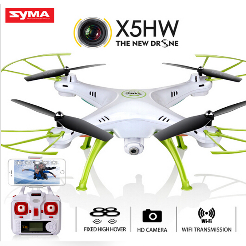 Original Syma X5HW (X5SW Upgrade) racing selfie <font><b>Dron</b></font> <font><b>FPV</b></font> Quadrocopter drone with Camera HD 2.4G 4CH RC Helicopter wifi USB Toy image