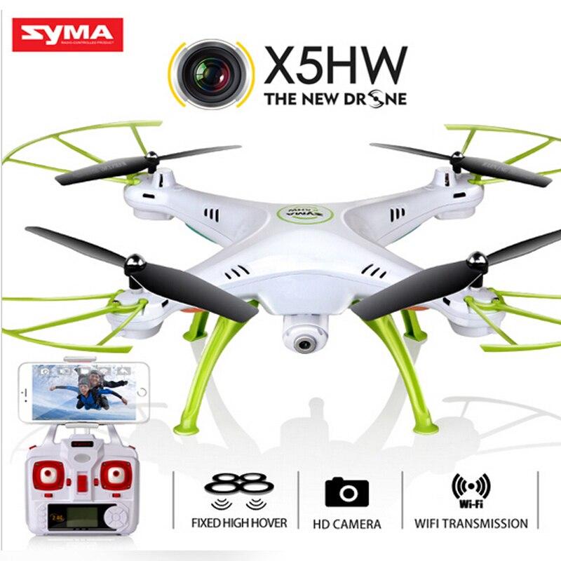 Oyuncaklar ve Hobi Ürünleri'ten RC Helikopterler'de Orijinal Syma X5HW (X5SW yükseltme) yarış selfie drone FPV quadcopter drone HD kamera ile 2.4G 4CH RC helikopter wifi USB oyuncak'da  Grup 1