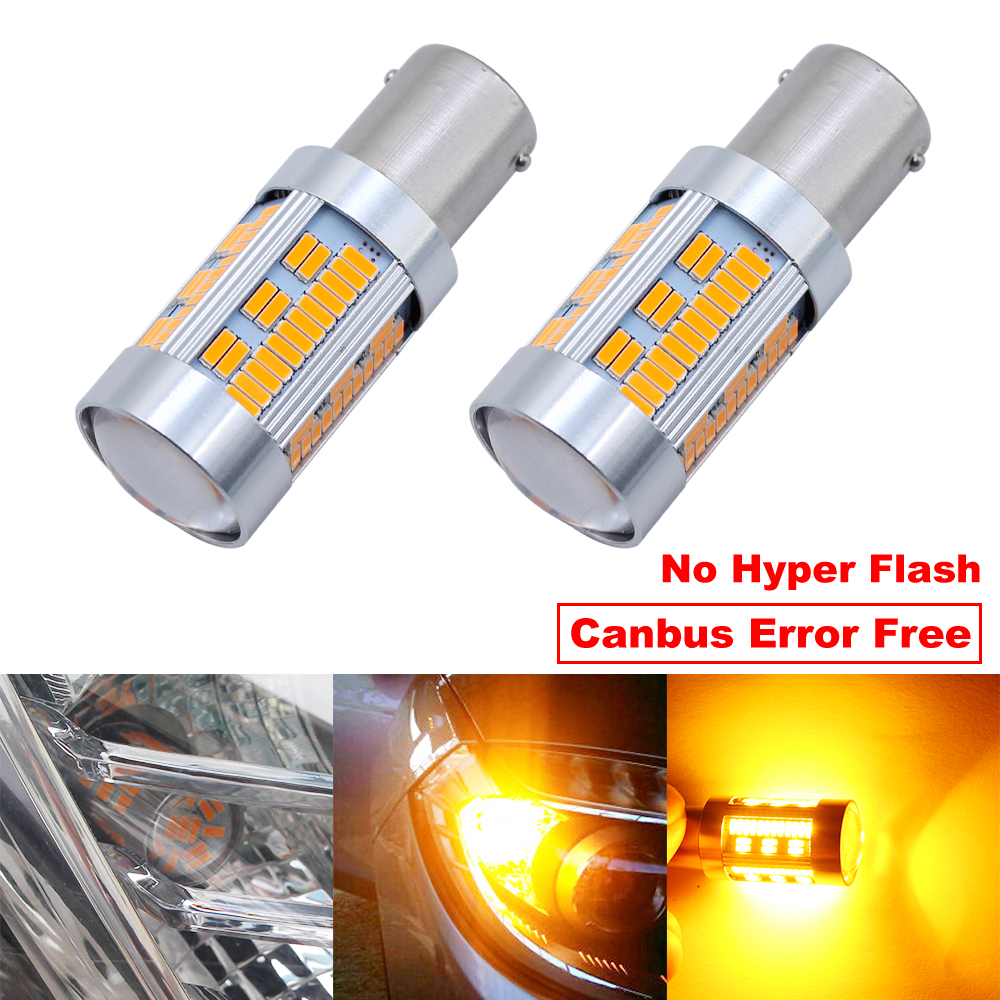 9-12V 20W 1156 BAU15S PY21W LED 105 4014 SMD LED Bulb Amber Yellow Lamp For Car Turn Signal Bulb Reverse Light No Hyper Flash new 2x80w 1156 bau15s 7507 py21w high power cree chips car led turn signal light bulb yellow