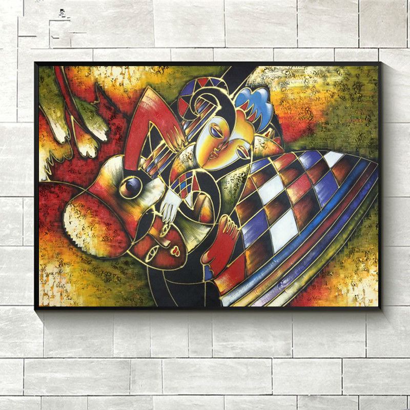 World famous paintings Picasso abstract painting Woman playing the - Home Decor
