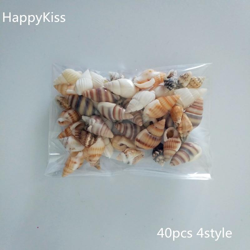 40 шт./лот, модный, маленький, разное украшение из раковины, морской раковины, аквариума, пейзажа, домашнего декора