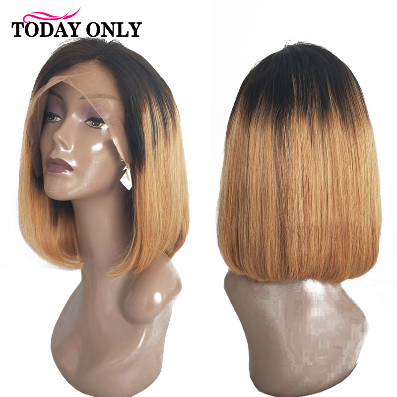 TODAY ONLY Brazilian Straight Lace Front Human Hair Wigs For Black Women Blonde Lace Front Wig