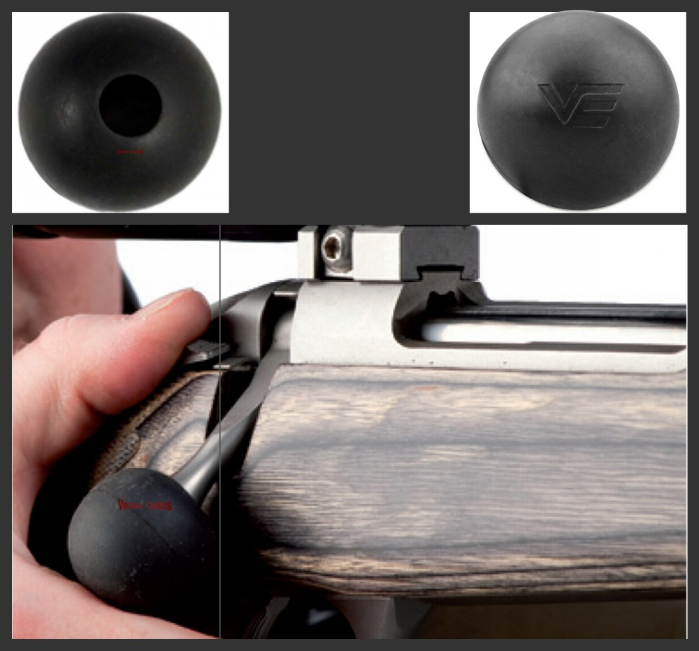 Tactical vector óptica rifle bolt ação silicone macio bola capa lidar com botão caça & tiro